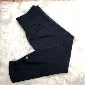 Lululemon Ebb and Flow Crop Blue Gray Size 6